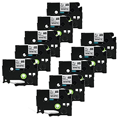 coLorty 10 Ruban pour Brother P Touch Tze-231/Tz-231 12 mm x 8 m Adhésif stratifié ruban d'étiquettes Noir sur Rouge 1000 W 1830 2730 7100 2100 2030 1830 7600 2430 VP D200 1230 9700 1090 2470 1290 1010 1080 1830 E100 P700 PC H75S H105