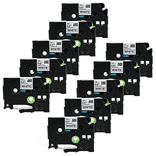 Preisvergleich Produktbild coLorty 10PK TZe-231 Schriftband Laminiertes Band Schwarz auf Weiß 12mm x 8m Geeignet für Brother P Touch 1000W 1010 1090 1830VP 2030VP 2100VP 2430PC 2470 2730VP 7100 VP7600VP H100R H300 D200VP und Andere P-Touch Geräte (2 Jahre Garantie)