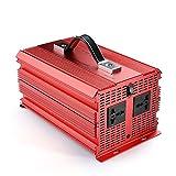 BESTEK 2000W Power Inverter DC 12V to 230V AC Car Converter with Cigarette Lighter Adapter and Battery Clip