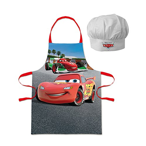 Walt Disney Cars (100825) Kinder Chefkoch-Set Kochschürze und Kochmütze, (Kostüme Cartoon Charakter Niedliche)