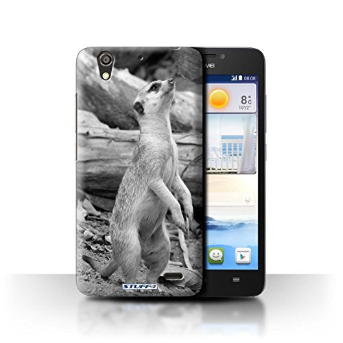 Stuff4® Hülle/Hülle für Huawei Ascend G630 / Erdmännchen Muster/Zoo-Tiere Kollektion