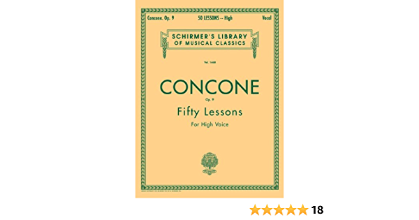 Amazon Fr G Concone Op 9 Fifty Lessons For The Voice Concone Joseph Livres
