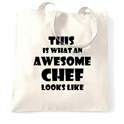 Dies ist, was ehrfürchtiger Chef sieht wie Koch Küche Lustig Tragetasche (Weihnachten Nachrichten Für Den Chef)