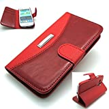 Luxury leather - Mobile Purse wallet stand case cover for SAMSUNG GALAXY S3 i9300 (RED)