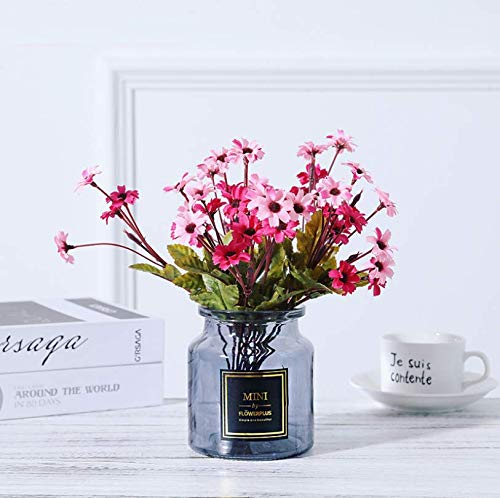 LLSTRIVE Flores Artificiales, Plantas en Maceta, decoración de la Chimenea del balcón,...