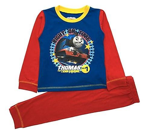 Kid Boys Official Thomas The Tank Engine Trains Long Pyjamas
