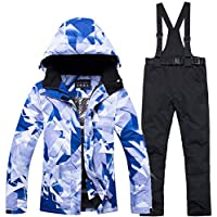 Zjsjacket Skianzug Winddichte weibliche Snowboardjackenhose der Wasserdichten Ski- und Snowboardklagefrauen -30 Grad-Schneeanzug Winterskibekleidung