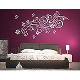 wall tattoo adesivi murali adesivo muro tatuaggio Soggiorno Camera da letto per bambini Kids room CUCINA 30 colori per la selezione del fiore della vite farfalla farfalle cuore wpf26(printed sticker 20x8cm)