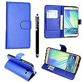 Kamal Star® Samsung Galaxy S3 i9300 / S3 Neo i9301 PU LEDER CASE COVER HÜLLE ETUI TASCHE SCHALE + STYLUS (Plain Blue Book)