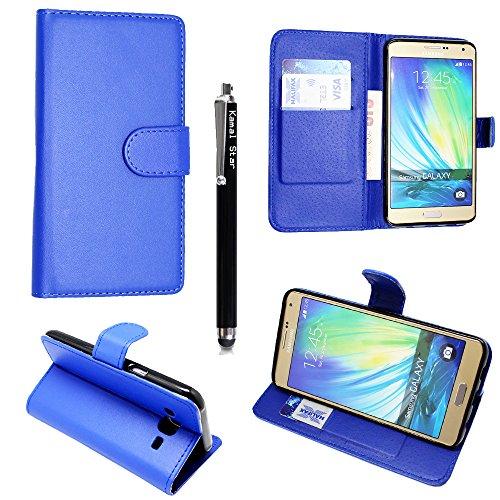 Funda para Samsung Galaxy S3 mini i8190, Kamal Star® Funda Cuero PU Billetera Folio Carcasa, [Stylus Libre] Piel Case Cover con Soporte Plegable para Samsung Galaxy S3 MINI I8190 (Plain Blue Book)