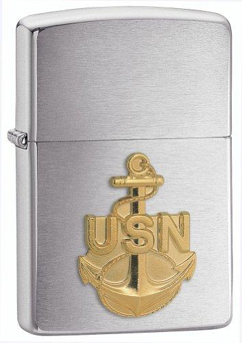 zippo-briquet-tempete-us-navy-emblem-chrome-brush-made-in-usa