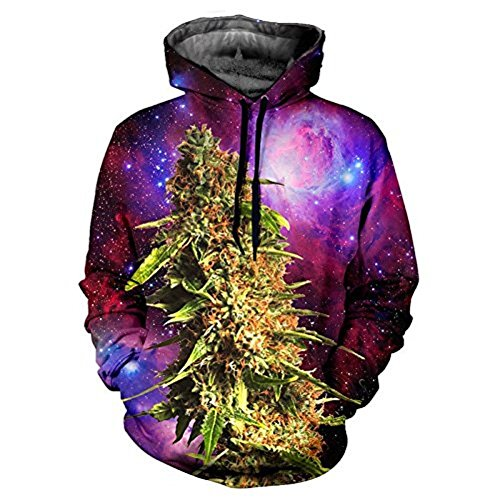 LHX Herren Duffle Kapuzenpullover rot rot X-Large Gr. Medium, galaxy weed (Long Thermal Hooded Sleeve)