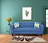 #6: Urban Living Elly Three Seater Sectional Sofa (Blue)