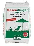 Premium Rasendünger Langzeitwirkung 25 kg für 800 m² kompaktiert