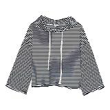Manadlian Damen T-Shirt Frauen Herbst Lose Langarm Brief Drucken Sweatshirt Pullover T-Shirt Oberteile