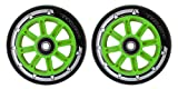 Paire TEAM Dogz Nylon Core scooter Roues 100mm Avec Abec 7 ROULEMENT en noir orange...