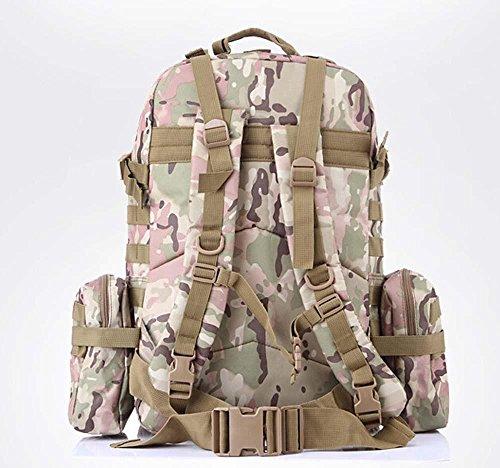 Arrampicata multifunzionale borsa zaino tattico militare gli appassionati di outdoor confezione bulk maschile borsa da viaggio , jungle number cp camouflage