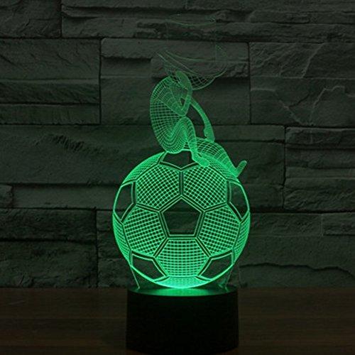 3D Fußball Illusions LED Lampen Tolle 7 Farbwechsel Acryl berühren Tabelle Schreibtisch-Nacht licht mit USB-Kabel für Kinder Schlafzimmer Geburtstagsgeschenke Geschenk