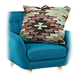 Native Home Dekokissen Ethno-Stil, Wohnkissen aus Baumwolle, Zierkissen Bunt, Bodenkissen Muster, HBT ca 24 x 70 x 60 cm