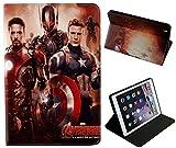 pour Apple iPad Pro 24,6cm 2017/iPad Pro 9.7et iPad Air 1-2Iron Man USA DLC de Marvel Comics Coque avec Support