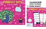 Purrfect Days Family Organiser Family Planner Kalender 2019 + Blank Kühlschrankmagnet