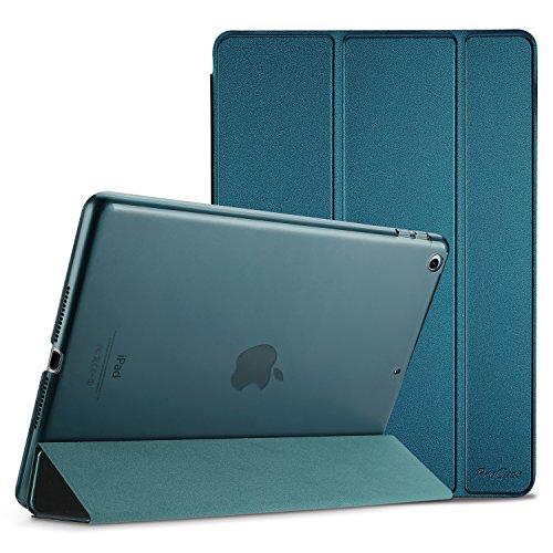 ProCase iPad 9.7 Hülle 2018 iPad 6 Generation /2017 iPad 5 Generation Tasche - Äußerst Schlank Leichtgewicht Ständer mit Transluzent Matt Rückseite Intelligente Hülle für Apple iPad 9.7 Zoll -Teal