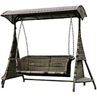 Imitazione bambù - rattan vimini dondoli / trapezio / appendere sedia / longue / sedie (Outdoor Glider Cuscini)