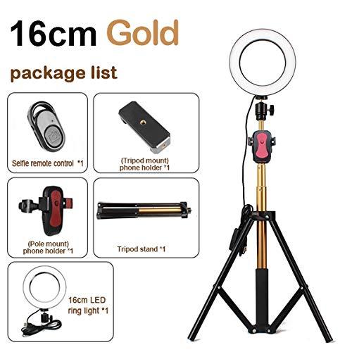"Dimmerabile In Studio Con Luce Anulare 3200-5600K 6""16CM LED Light Lamp Video Con 150CM Treppiede Selfie Stick/USB Plug C"