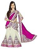 #5: Sky Global Girls Traditional Lehenga Choli (Sky_8024_Pink and Offwhite_8-12 Yrs)