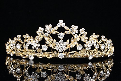 floral-leaf-pageant-bridal-tiara-crown-clear-crystals-gold-plating-t660-by-venus-jewelry