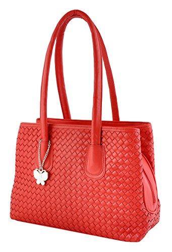 Butterflies casual épaule concepteur faux cuir dames sac à main sac à main rouge