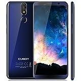 Cubot Power (2018) Android 8.1 4G-LTE Dual Sim Smartphone ohne Vertrag, 5.99 Zoll (18:9) IPS FHD+ Touch Display mit 6000 mAh Akku, 6GB Ram+128GB interner Speicher, 20MP Hauptkamera / 13MP Frontkamera, Octa-Core Prozessor, 2.5GHz 64-bit MT6763T, 0.1s Fingerprint Sensor, Benachrichtigungs-LED (Blau), 2.5D gebogener Bildschirm, nutzbares GPS, Blau
