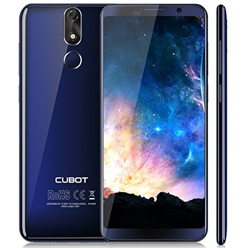 Cubot Power Android 8.1 4G-LTE Dual SIM Smartphone ohne Vertrag, 5.99 Zoll (18:9) IPS FHD+ Touch Display mit 6000 mAh Akku, 6GB Ram+128GB interner Speicher, 20MP Hauptkamera / 13MP Frontkamera, Blau (Fall Farbe-iphone Helle 6)