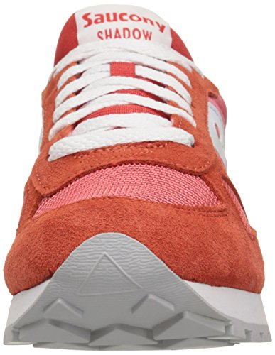 Sneaker Saucony Shadow in suede e tessuto rosa salmone Rose