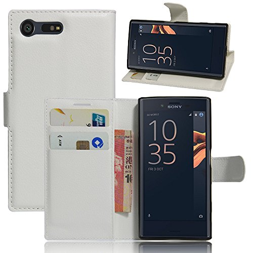 Sony Xperia X Compact Hülle, IVSO Hohe Qualität Advanced Shock Absorption Technology Case Folio Tasche Cover für Sony Xperia XCompact Smartphone (11,7 cm (4,6 Zoll) (Weiß)