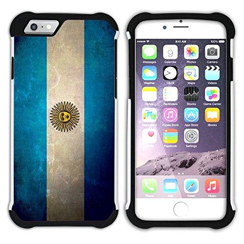Graphic4You Vintage Uralt Flagge Von Bolivien Bolivianer Design Hart + Weiche Kratzfeste Hülle Case Schale Tasche Schutzhülle für Apple iPhone 6 / 6S Argentinien Argentinische