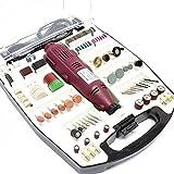 WilTec Mini perceuse avec Accessoires 234 pcs. Outil Multifonctions meuleuse graveuse Ponceuse