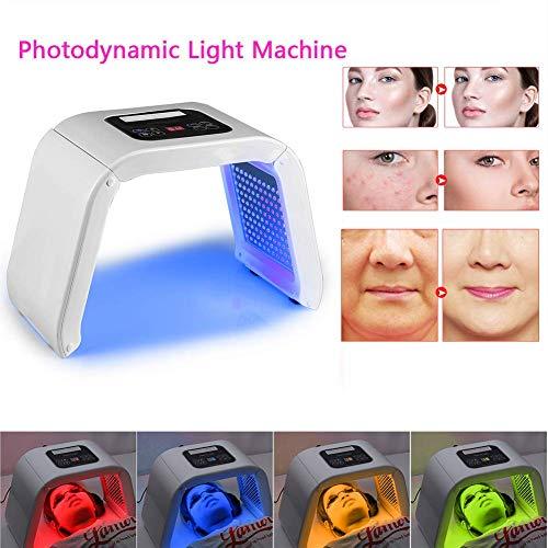 Rziioo Traitement photodynamique de traitement de l'acné de Lampe de beauté de beauté de 4 Couleurs LED
