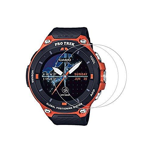 (2pezzi) pellicola protettiva per Casio wsd-f20,9h protezione schermo in vetro temperato per Casio Smart Watch wsd-f20con...