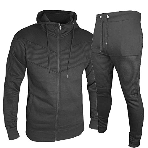 Urban Mens Tracksuit Set Fleece Hoodie Top Bottoms Jogging Joggers Skinny Slim