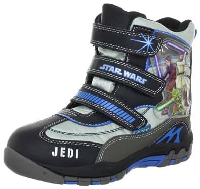 Star Wars Snow boots SW325037, Jungen Stiefel, Schwarz (BLK/SIL/MGRY JN8), EU 32