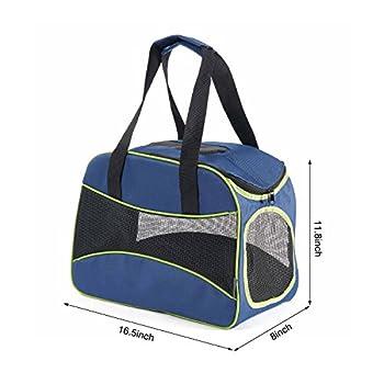 Sac de Transport pour Chien, Kaka mall Sac Bandoulière Sac à Main Lavable Pliable pour Chien Chat Chiot (Bleu)