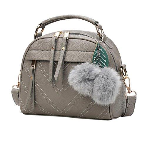 BZLine® Frauen Schultertasche Pom Tote Handtasche Tasche Handtaschen