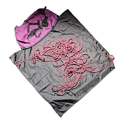Psychi Kletternseiltasche mit Bodenplanenschnallen und Trageriemen Violett - violett