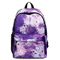 Canvas Galaxy Pattern School Bag Backpack Cute Rucksack for Girls