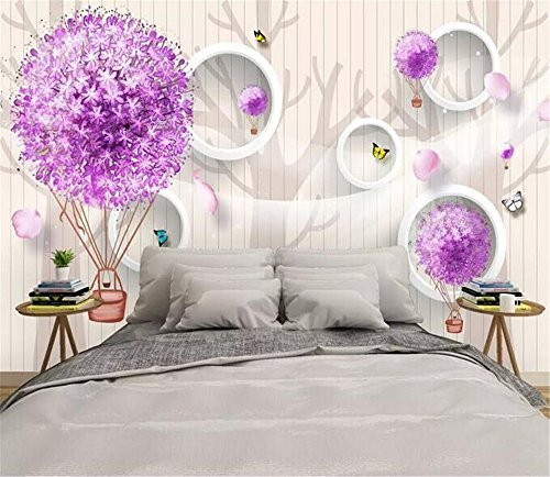 HHCYY Gipskräuter Der Tapete 3D Und Heißluftballon 3D Fernsehhintergrundwandwandbild-Kundenspezifische Fotowand-120cmx100cm