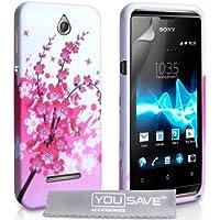 Yousave Accessories Silikon Gel Schutzhülle für Sony Xperia E–Floral Bee