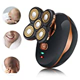 Bald Head Shaver, Lesgos Multifunctional Wet And Dry Rotary Cordless Electric Shaver With