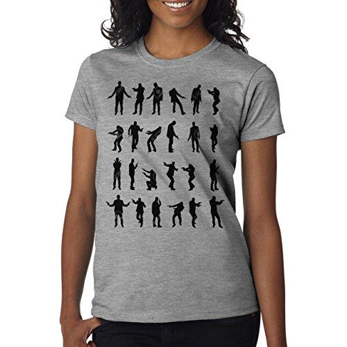 Hitman Movie Man And Pistols Background Damen T-Shirt Grau