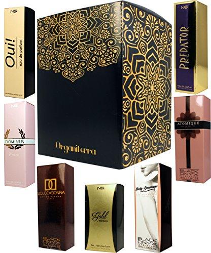 Preisvergleich Produktbild Set von 6 (sieben) Parfums erster Qualität in Geschenkbox für Frauen,  formuliert in Frankreich. 15 ml Jeweils in Box und Zerstäuber.
